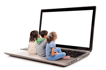 Foto di bambini sui social