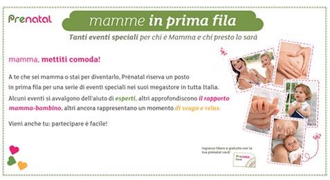 Mamme in prima fila: eventi Prenatal 2015