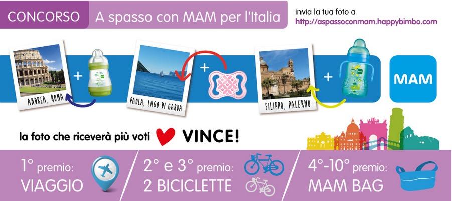 Concorso Mam A spasso con Mam per Italia